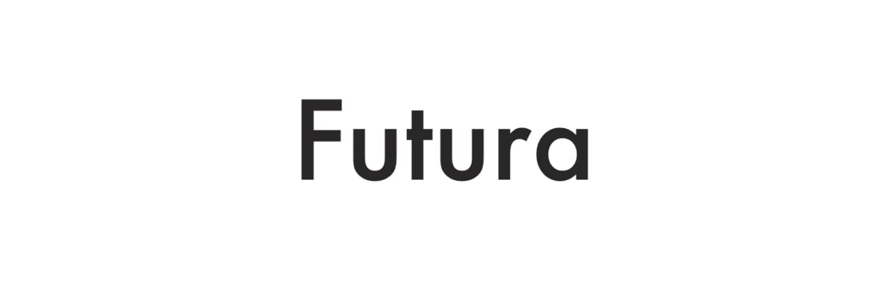 <strong>FIG 16</strong>: Futura is the most well-known geometric typeface.